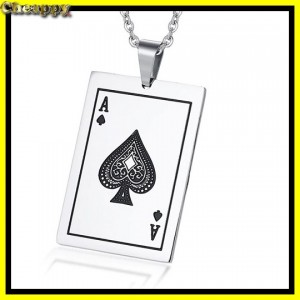 Lucky Ace of spades hanger met ketting